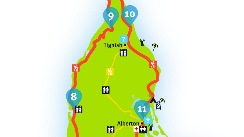 Island Walk Map 10-11