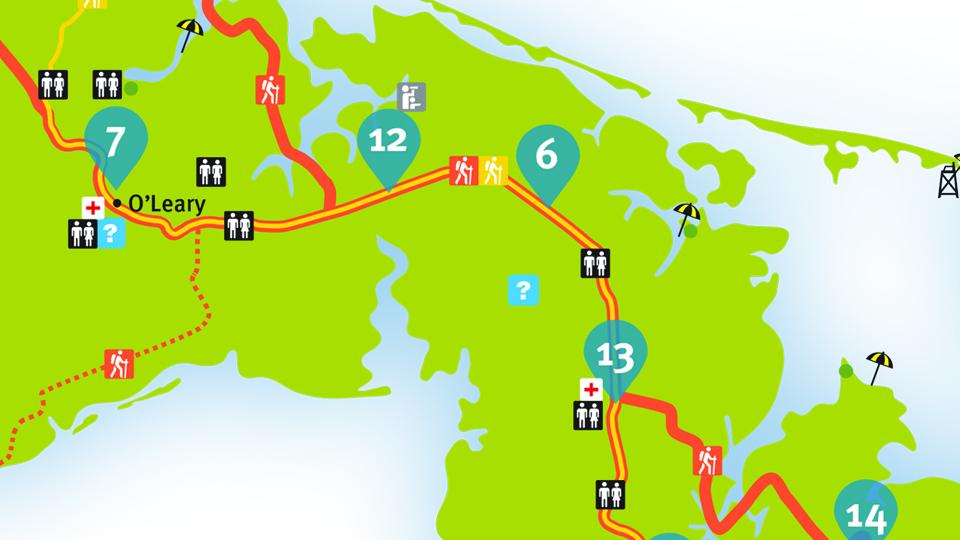 Island Walk Map 12-13