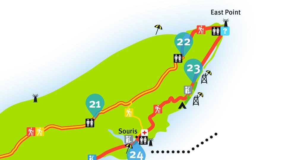 Island Walk Map 22-23