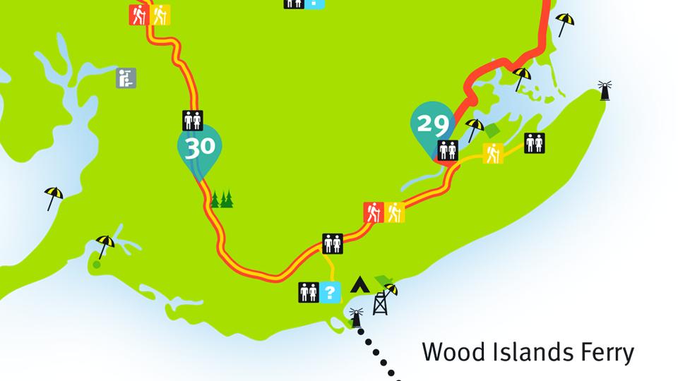 Island Walk Map 29-30