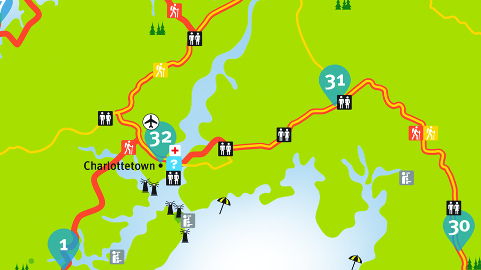 Island Walk Map 31-32