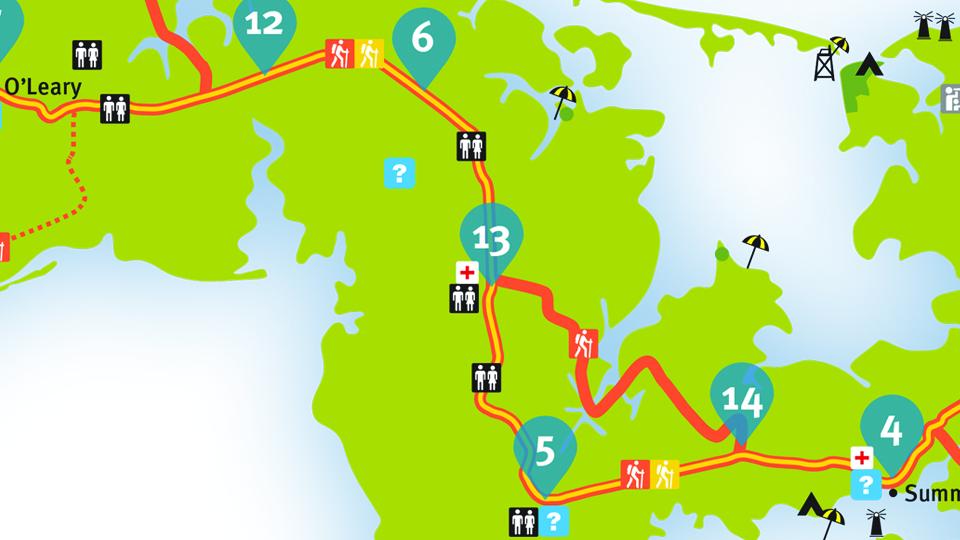 Island Walk Map 5-6